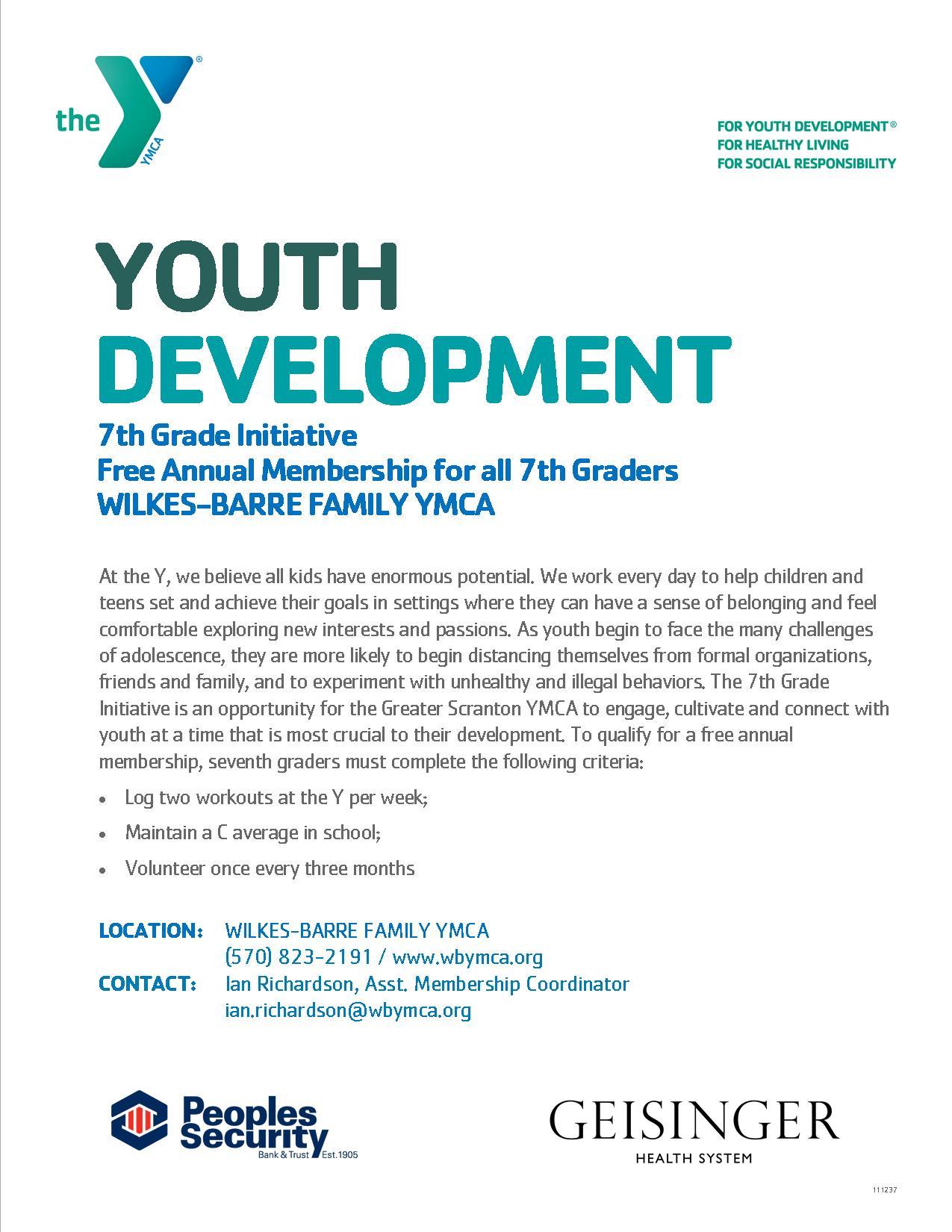 youth development wilkes barre ymca