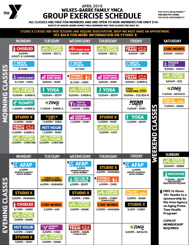 Group Fitness Classes in Wilkes Barre, PA | YMCA | Wilkes-Barre YMCA